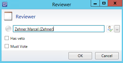 """Service Manager: Create a """"Reviewers"""" object by using"""