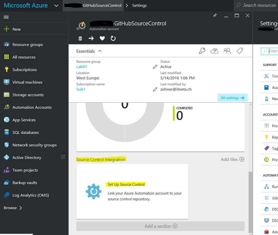 GitHub Source Control for your Azure Automation Runbooks