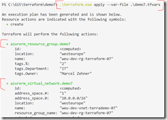 Terraform – using multiple files for configurations and