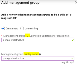Add Management Group