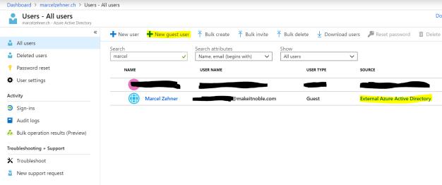 Invite Guest User