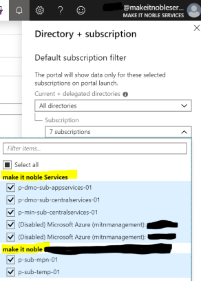 Select Subscriptions