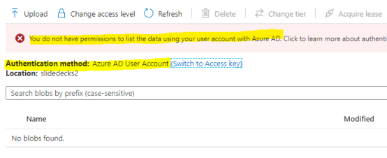12-Access with AAD Account, fail