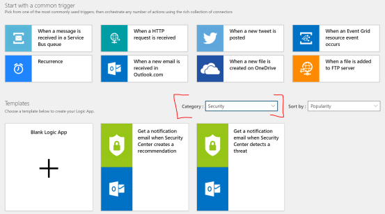 Azure Logic App Category